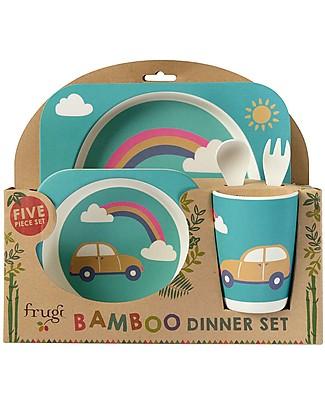 Frugi Set Pappa 5 Pezzi, Rainbow - 100% bambù Set Pappa