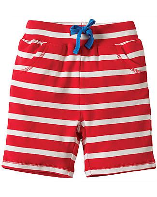 Frugi Shorts a Righe, Rosso/Ippopotamo  Pantaloni Corti