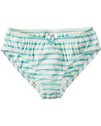 Frugi Slip Phoebe, Daisy - Pacco da 3 - 100 % Jersey di Cotone Bio Pantaloni Lunghi