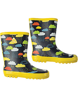 Frugi Stivali in Gomma Puddle Buster, Nuvolette - 100% gomma naturale null
