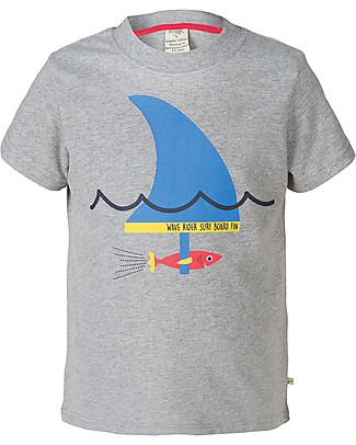 Frugi T-Shirt Atlantic, Grigio Melange/Squalo - 100% cotone bio T-Shirt e Canotte