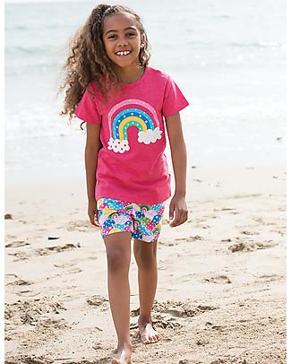 Frugi T-Shirt Praa, Lampone/Arcobaleno - 100% cotone bio T-Shirt e Canotte