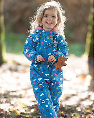 Frugi Tuta Termica Explorer All In One, Sail Blue Fly High - Impermeabile e Foderato Cappotti