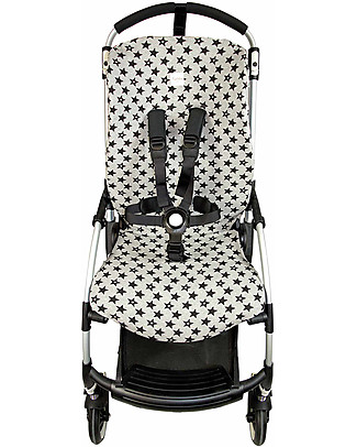 Fun*das bcn Cover per Passeggino Bugaboo Bee 3, Fun Black Star - Cotone elasticizzato Accessori