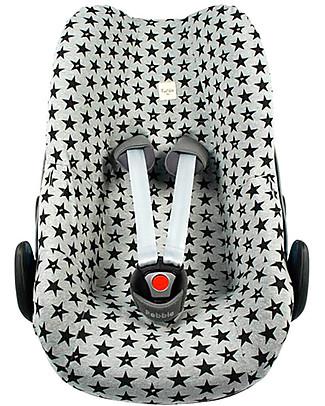 Fun*das bcn Cover per Seggiolino Auto Gruppo 0 Bébé Confort Pebble e Pebble Plus - Fun Black Star Accessori Seggiolini Auto