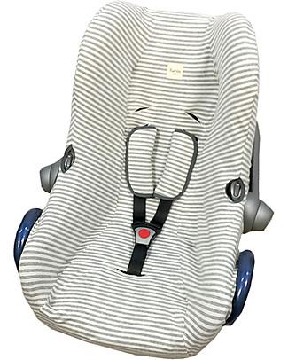 Fun*das bcn Cover per Seggiolino Auto Maxi-Cosi Cabriofix, Kodak Stripes – Cotone elasticizzato Accessori Seggiolini Auto
