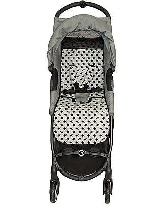 Fun*das bcn Materassino per Passeggino BabyJogger Citi Mini Zip, Fun Black Star - Cotone elasticizzato Accessori