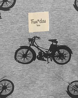 Fun*das bcn Materassino per Passeggino Babyzen Yoyo, Black Bikes - Cotone elasticizzato Accessori