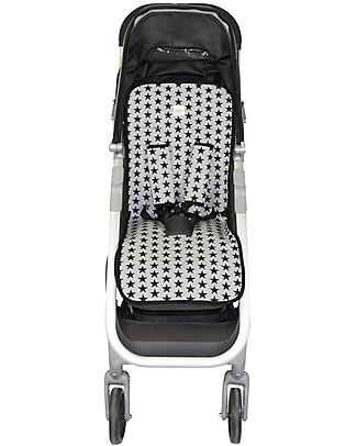 Fun*das bcn Materassino Universale per Passeggino, Black Star - Cotone elasticizzato Accessori