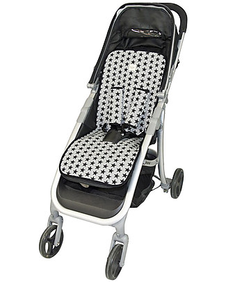 Fun*das bcn Universal Padded Cover for Stroller, Black Star - Elasticated cotton Stroller Accessories
