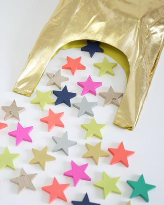 GG*&Kiko+ Domino Tanabata con Stelline - Legno di Faggio & Colori Atossici  Giochi Di Una Volta