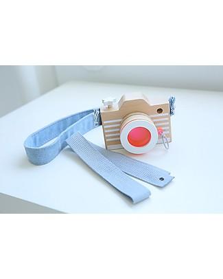 GG*&Kiko+ Macchina Fotografica in Legno, Rosa - Comprende lenti colorate e cinghie! Construzioni In Legno