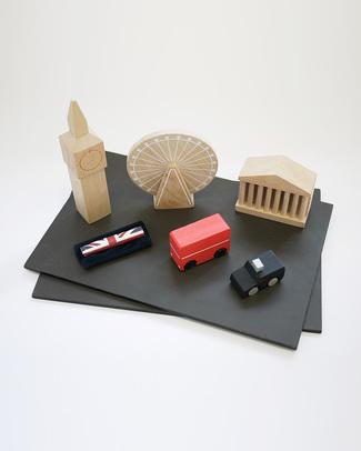 GG*&Kiko+ Machi Costruisci la Tua Londra - Legno di Faggio & Colori Atossici  Construzioni In Legno