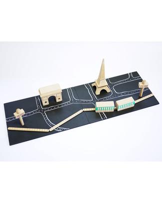 GG*&Kiko+ Machi Costruisci la Tua Parigi - Legno di Faggio & Colori Atossici  Construzioni In Legno