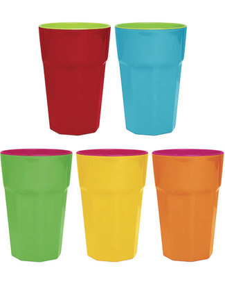 Ginger Bicchiere Rétro Grande - Arancio e Rosa Tazze e Bicchieri