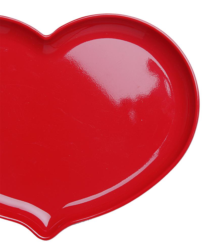 Ginger Piatto a Cuore - Rosso Lacca Piatti e Scodelle