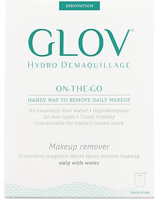 Glov Glov On The Go, Guanto Struccante in Microfibra, Avorio – Strucca senza usare detergente!  Viso