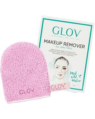 Glov Glov On The Go, Guanto Struccante in Microfibra, Cozy Rosie (Rosa) - Strucca senza usare detergente!  Viso