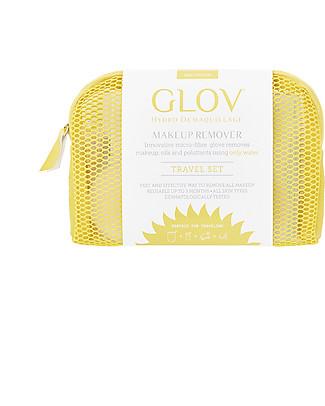 Glov Glov Travel Set, Giallo – Rimuovi il trucco senza detergente!  Viso