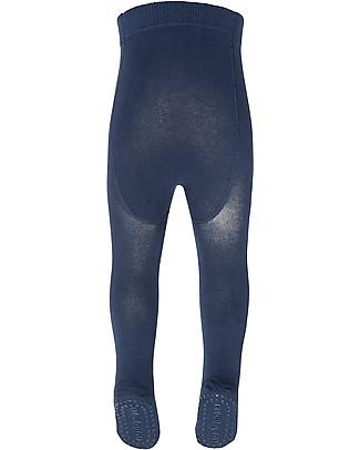 GoBabyGo Collant Antiscivolo per Gattonare, Blu Petrolio – Cotone Calze