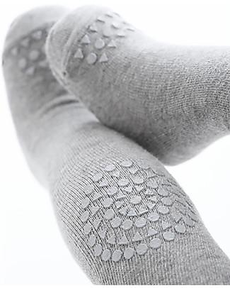 GoBabyGo Collant Antiscivolo per Gattonare, Grigio Melange – Cotone Calze