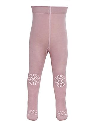 GoBabyGo Collant Antiscivolo per Gattonare, Rosa Antico – Cotone Calze