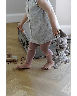 GoBabyGo Leggings Antiscivolo per Gattonare, Rosa - Cotone Leggings