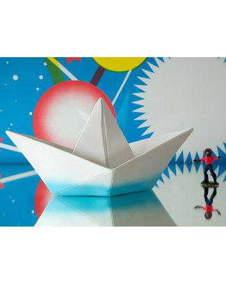Goodnight Light Lampada Barchetta Origami - Ciano Dip Dye - Basso Consumo Energetico! Lampade Comodino