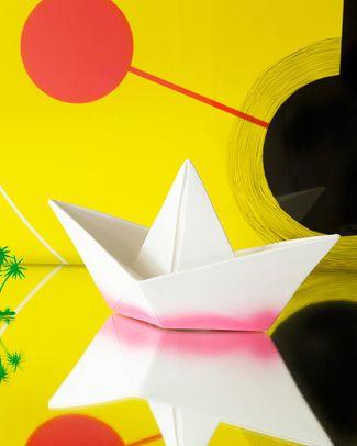Goodnight Light Lampada Barchetta Origami - Magenta Dip Dye - Basso Consumo Energetico! Lampade Comodino