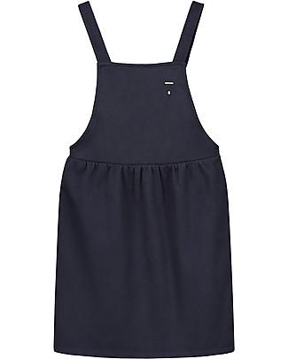 Gray Label Abito Grembiulino, Blu Notte - 100% morbidissima felpa di cotone italiano bio Vestiti