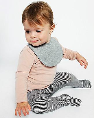 Gray Label Bavaglino Baby, Grigio Melange - 100% felpa di cotone bio morbidissimo Bavagli Classici