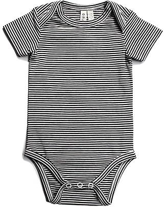 Gray Label Body Manica Corta, Righe Bianco/Nero - Cotone Bio Tutine Corte