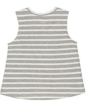 Gray Label Canotta Baby a Righe, Grigio Melange - 100% jersey di cotone bio T-Shirt e Canotte