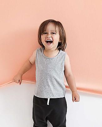 Gray Label Canotta Corta con Spalle Larghe, Grigio Melange (dai 2 anni in su) - 100% cotone bio Maglie Manica Lunga
