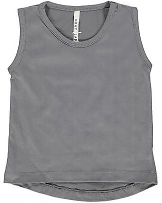 Gray Label Canottiera Classica Unisex, Grigio Scuro - 100% jersey di cotone bio T-Shirt e Canotte