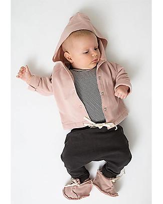 Gray Label Cardigan Baby Felpato Cotone Bio Morbidissimo, Vintage Pink  Felpe