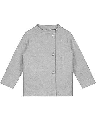 Gray Label Cardigan Felpato Asimmetrico, Grigio (dai 2 anni in su) - 100% cotone bio italiano - Morbido e caldo Cardigan