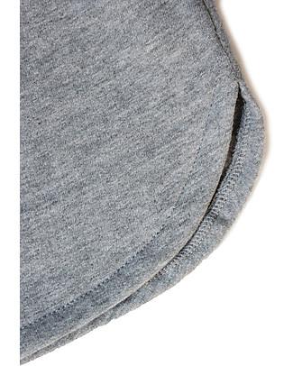Gray Label Gonna Felpata, Grigio Melange - 100% Felpa di Cotone Bio Italiano Gonne