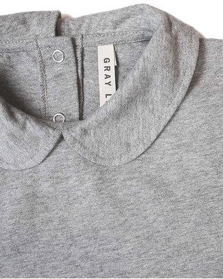 Gray Label Maglia con Colletto Grigia - 100% Cotone Bio Morbidissimo! Maglie Manica Lunga