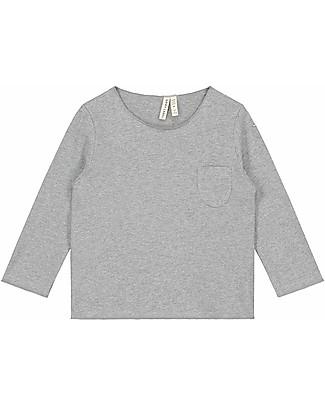 Gray Label Maglia Maniche Lunghe con Taschino, Grigio - 100% coton bio Maglie Manica Lunga