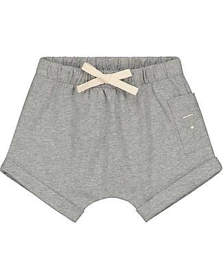 Gray Label Pantaloncini Baby con Coulisse, Grigio Melange - 100% jersey di cotone bio Pantaloni Corti