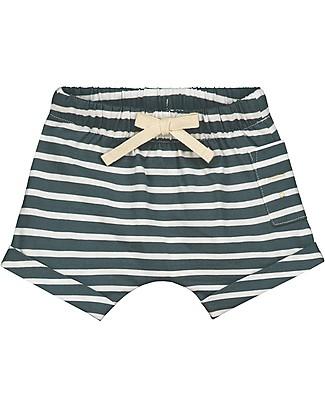 Gray Label Pantaloncini Baby con Coulisse, Righe - 100% jersey di cotone bio Pantaloni Corti