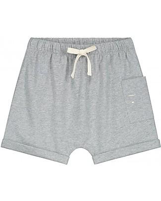 Gray Label Pantaloncini con Taschino (12-24 mesi), Grigio Melange - 100% cotone bio Pantaloni Corti