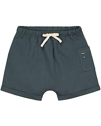 Gray Label Pantaloncini con Taschino, Blu Grigio (dai 2 anni in su) - 100% cotone bio Pantaloni Corti