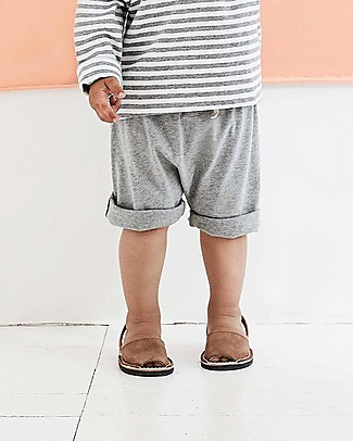 Gray Label Pantaloncini con Taschino, Grigio Melange (12-24 mesi) - 100% cotone bio Pantaloni Corti