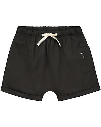 Gray Label Pantaloncini con Taschino, Nero (dai 2 anni in su) - 100% Cotone bio Pantaloni Corti