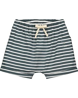 Gray Label Pantaloncini con Taschino, Righe (18-24 mesi) - 100% Cotone bio Pantaloni Corti