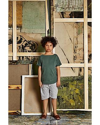 Gray Label Pantaloni Corti Shorts, Righe Grigio Melange/Bianco - 100% jersey di cotone bio  Pantaloni Corti