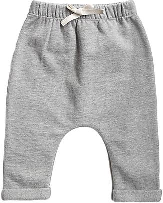 Gray Label Pantaloni Felpati Baby, Grigio Melange - 100% cotone bio morbidissimo Pantaloni Lunghi