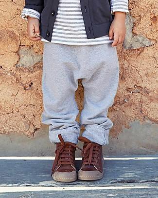 Gray Label Pantaloni Felpati, Grigio Melange - 100% Cotone Bio Morbidissimo - 12/24 months Pantaloni Lunghi